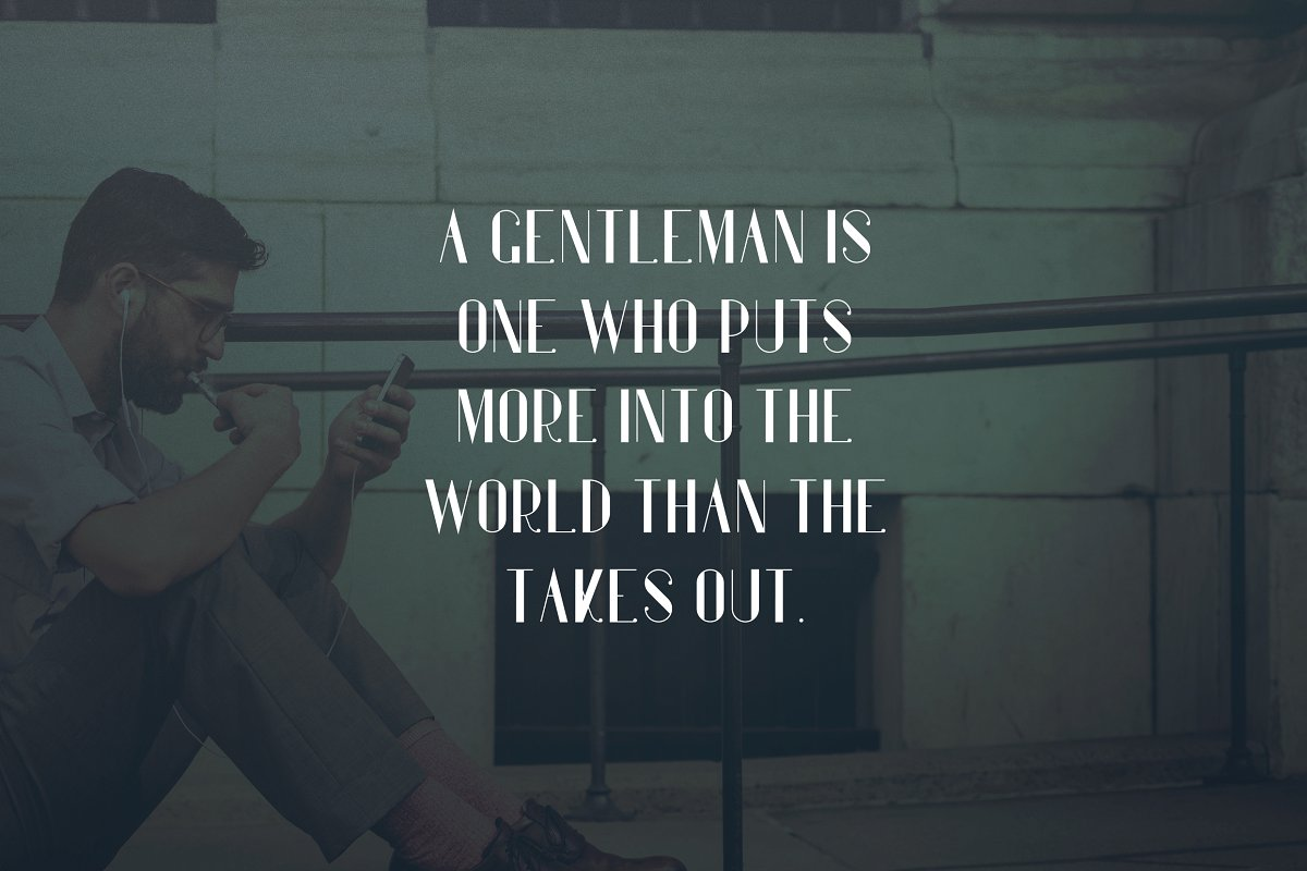 who is a gentleman