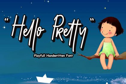 Hello Pretty Font - Befonts - Download free fonts