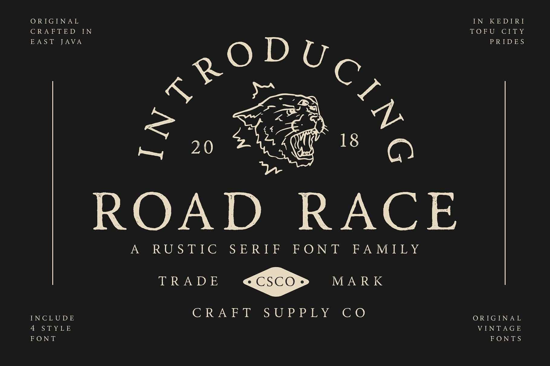 Road Race Typeface - Befonts com