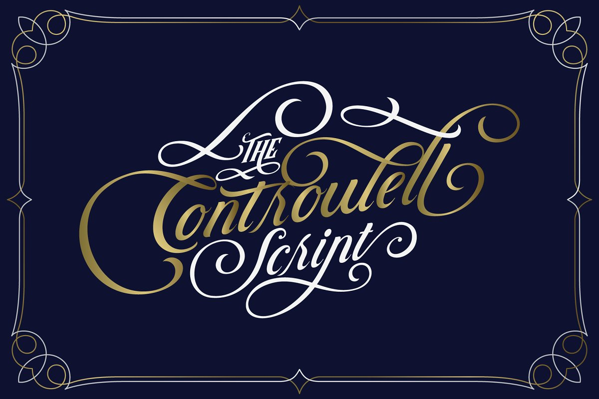 Controwell Victorian Typeface - Befonts com