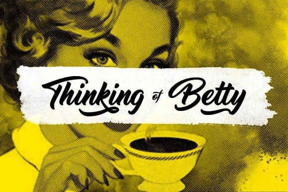 Image result for Thinking Of Betty Font