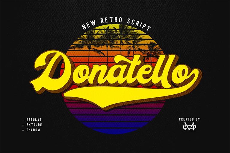 Donatello Retro Script Font - Befonts com