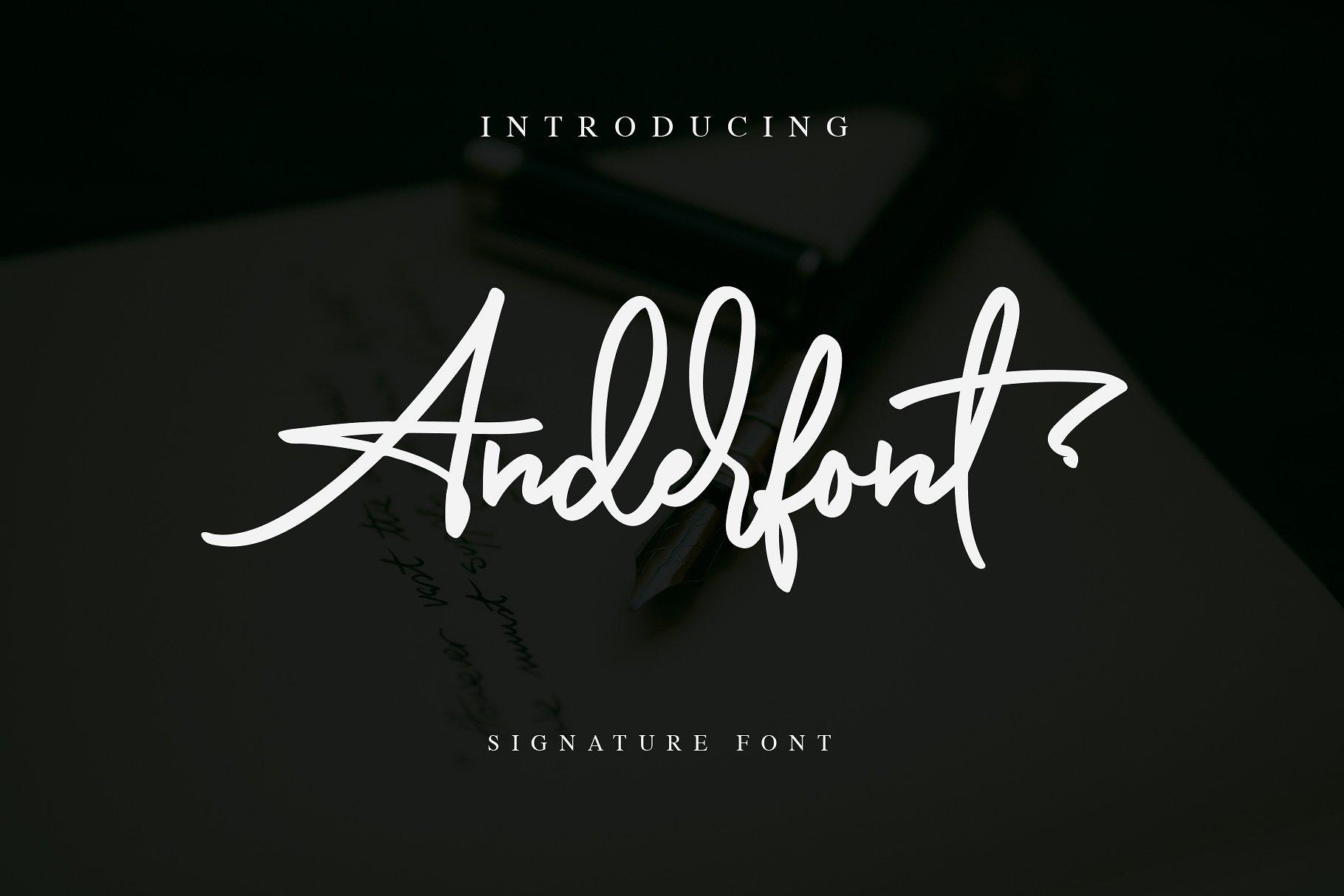 Download Anderfont Signature Font - Befonts.com