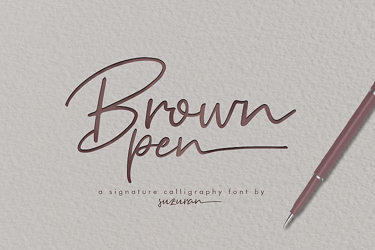 Download Brown Pen Signature Font - Befonts.com