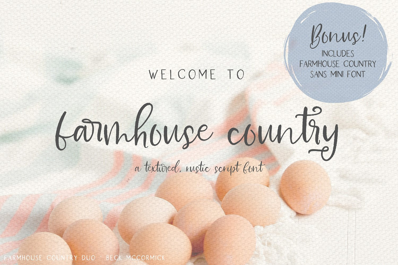 Farmhouse Country Rustic Script Font - Befonts com