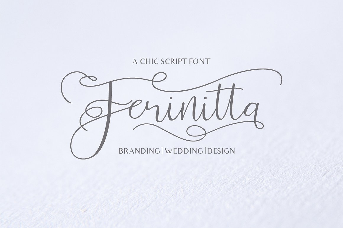 Calligraphy Fonts: Ferinitta Calligraphy Font