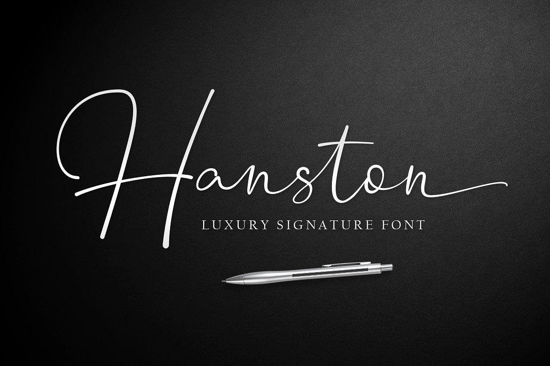 Download Hanston Signature Font - Befonts.com