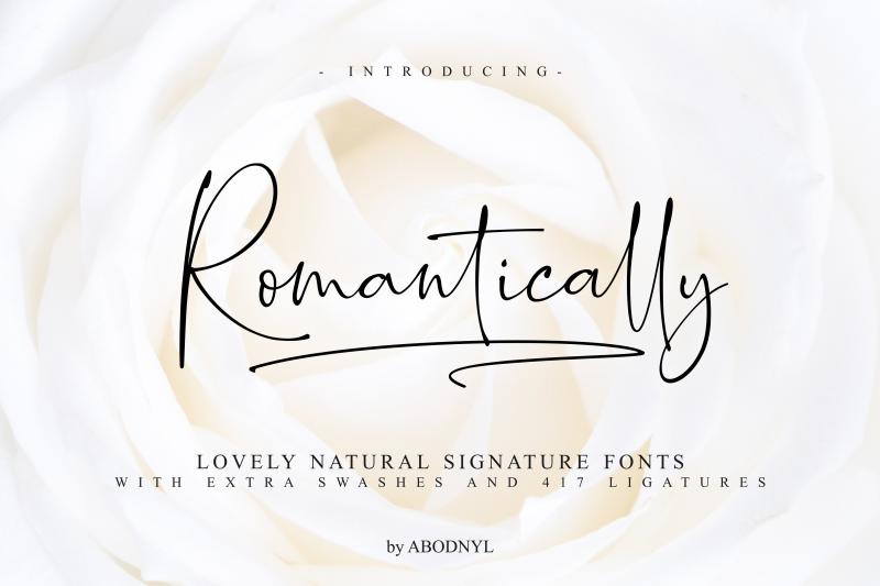 Romantically Script Font - Befonts com