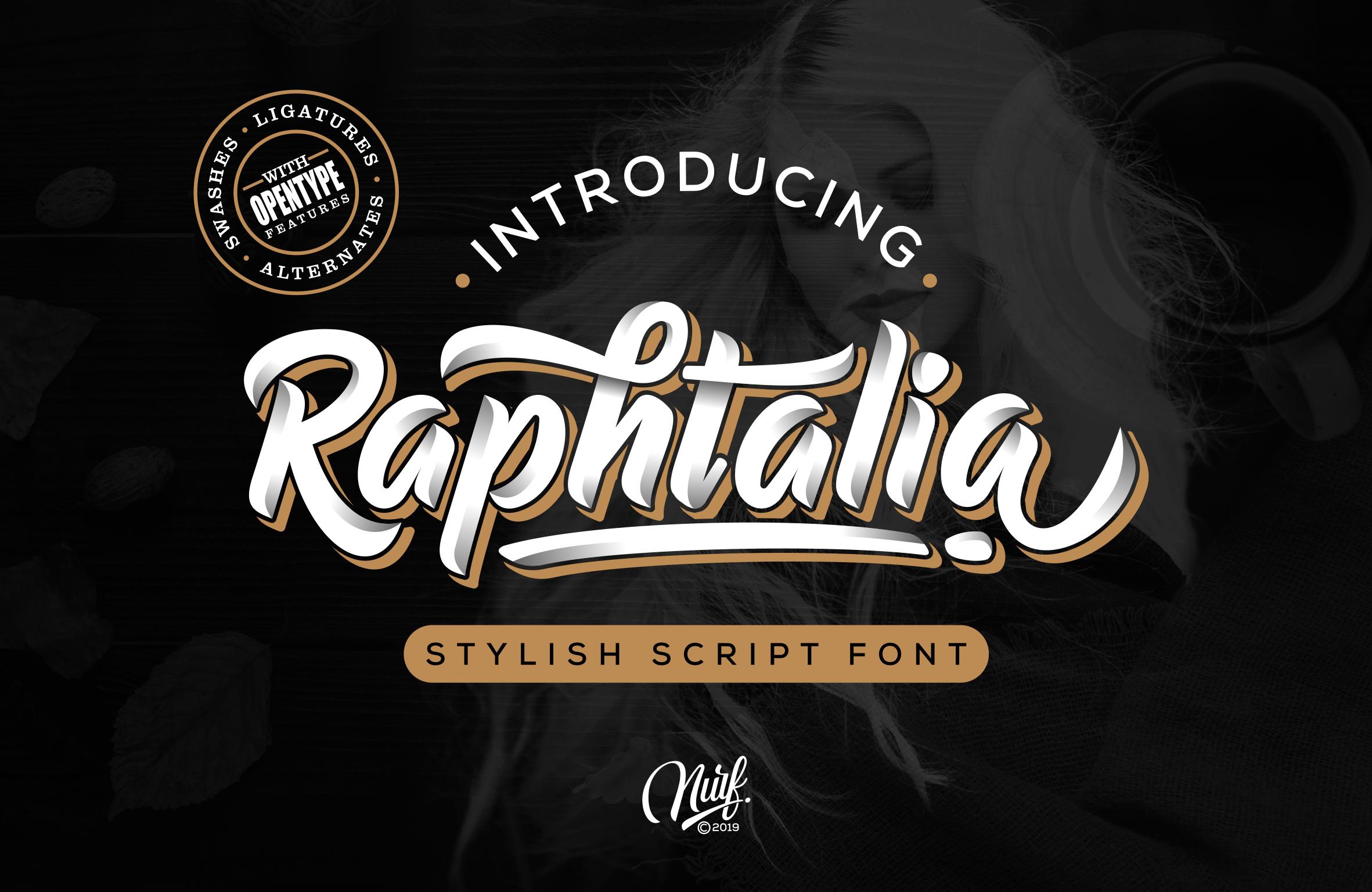 Raphtalia script font befonts com