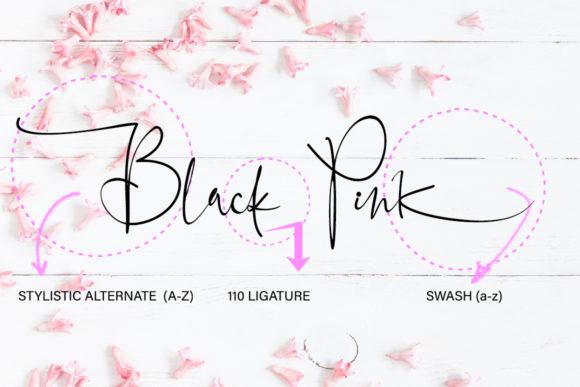 Black Pink Signature Font - Befonts com