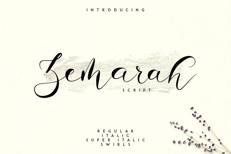 Zemarah Script Font - Befonts com