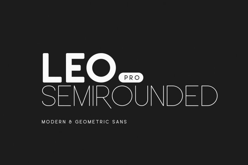 Leo Semi Rounded Pro Font - Befonts com