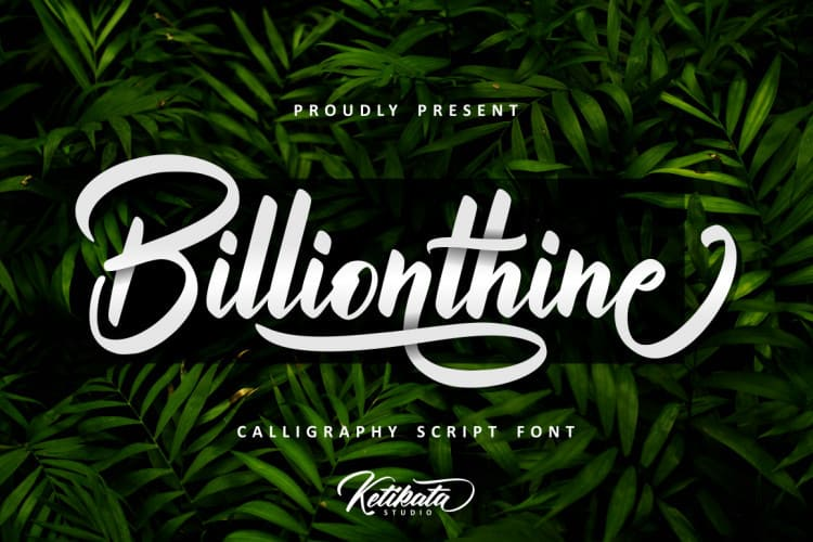 Billionthine Calligraphy Font Download Font Free