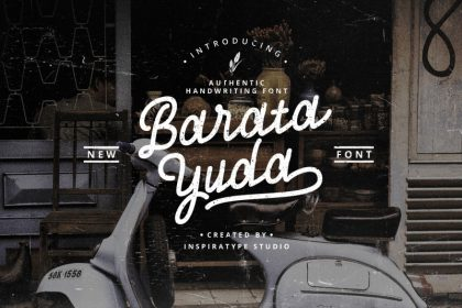 Baratayuda Authentic Handwriting Font