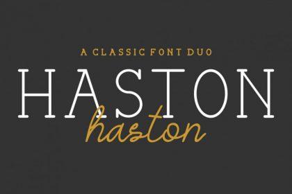 Haston Classic Font Duo