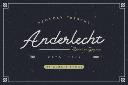 Anderlecht Monoline Font