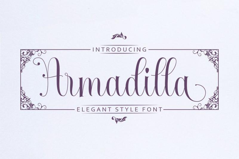 Armadilla Script Font
