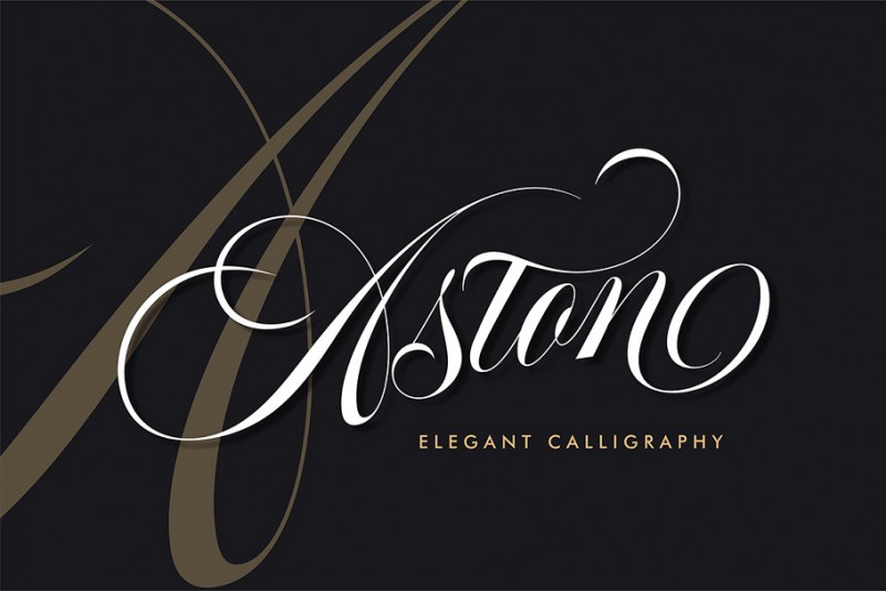 Aston Calligraphy Font - Befonts com