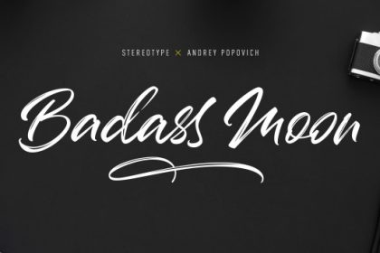 Badass Moon Brush Font