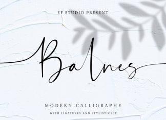 Balnes Modern Script Font