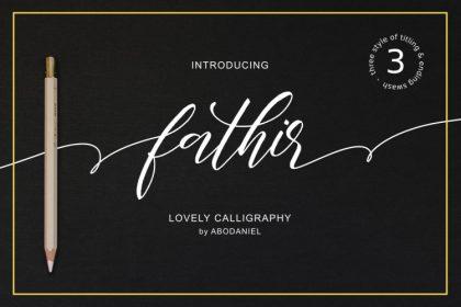 Fathir Script Font