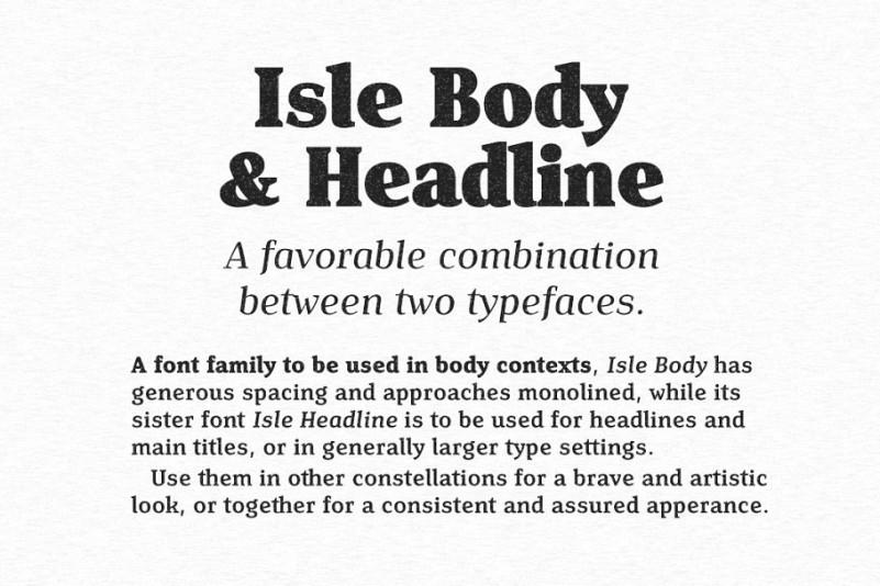 Isle Headline Font Family Befonts Com