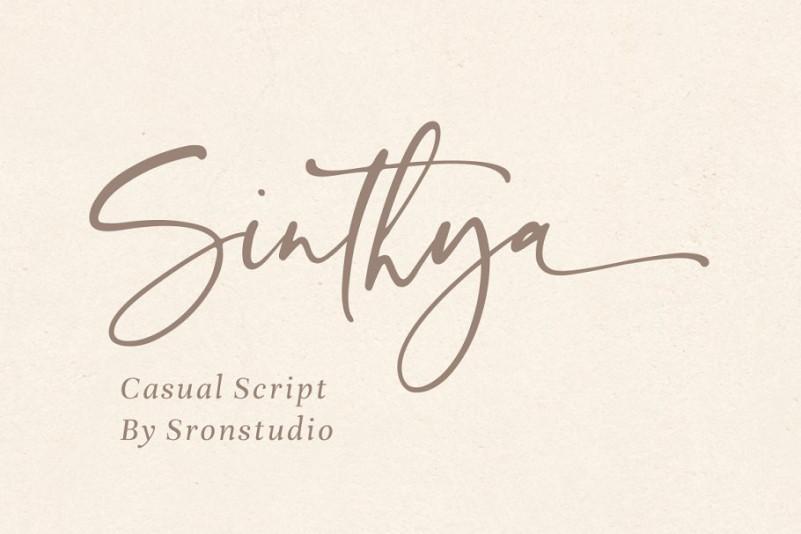 Sinthya Script Font