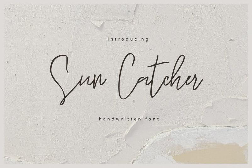 Sun Catcher Handwritten Font
