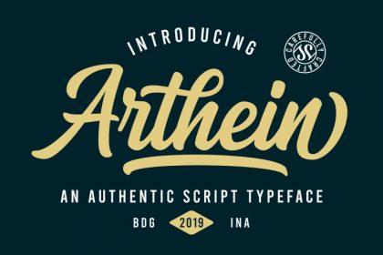 Arthein Bold Script Font