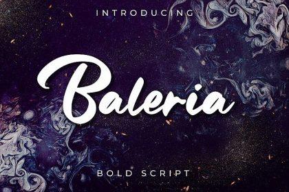Baleria Bold Script Font