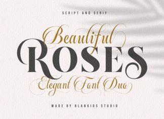 Beautiful Roses Font Duo