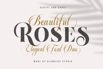 Beautiful Roses Font Duo