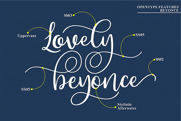 Beyonce Calligraphy Font
