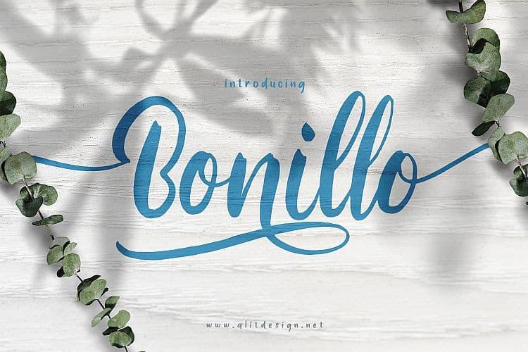 Bonillo Script Font