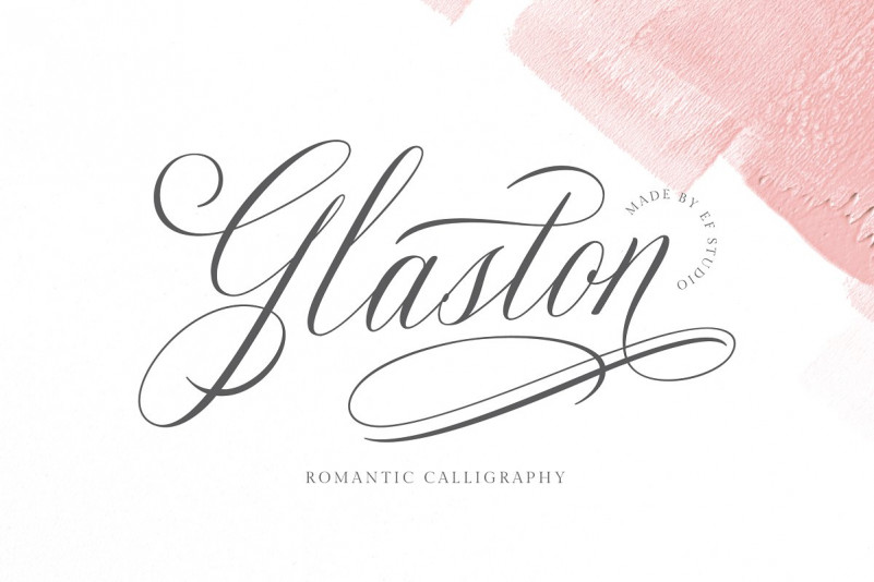Glaston Calligraphy Font