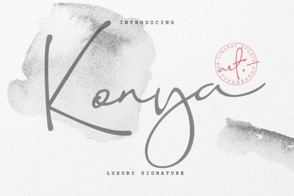 Konya Signature Font