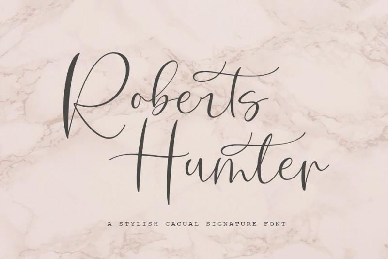 Roberts Humter Script Font