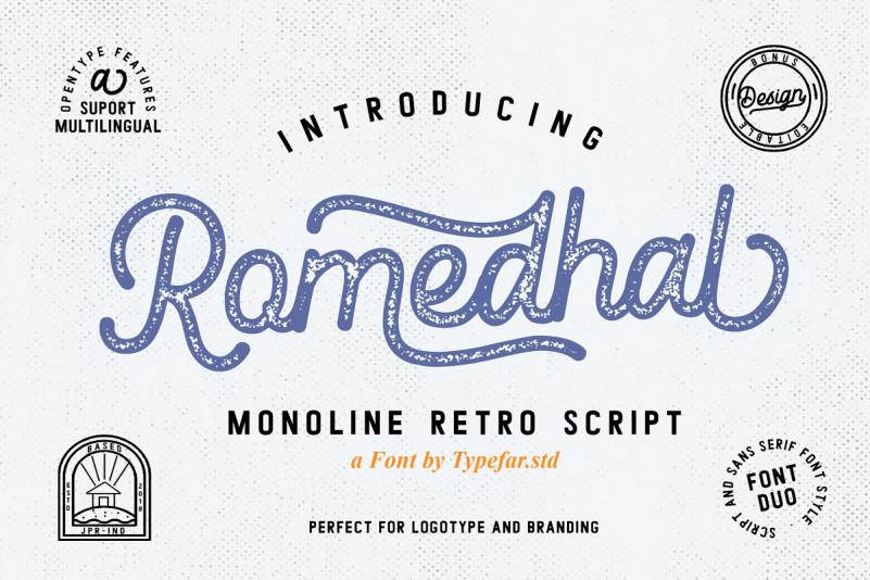 Romedhal Script Font