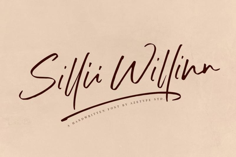 Sillii Willinn Handwritten Font