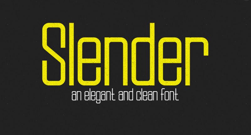 Slender Font Family