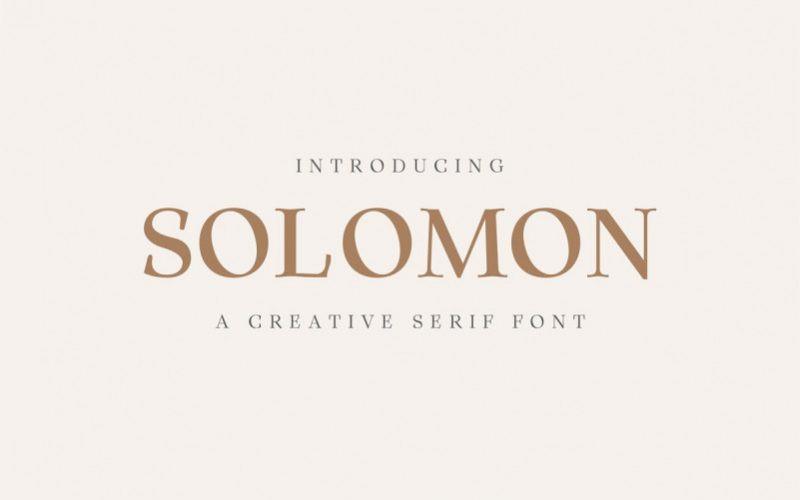 Solomon Serif Font Family