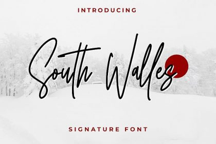 South Walles Signature Font
