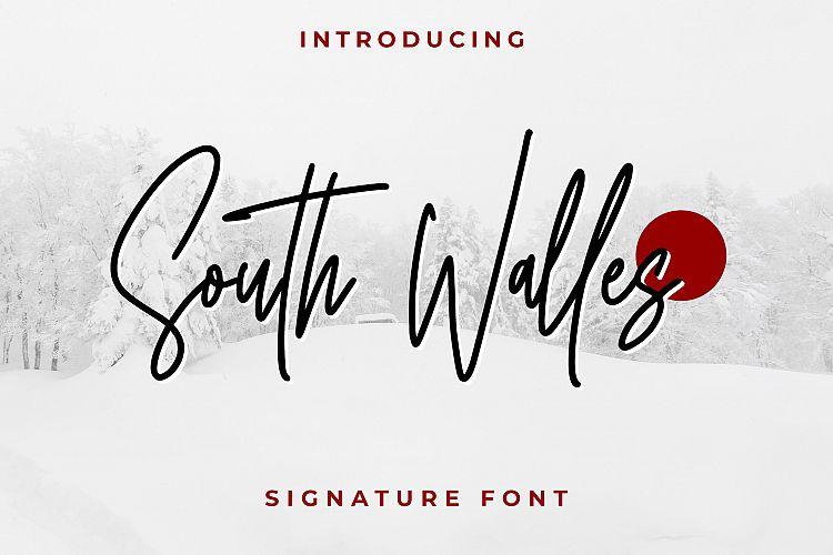 South Walles Signature Font