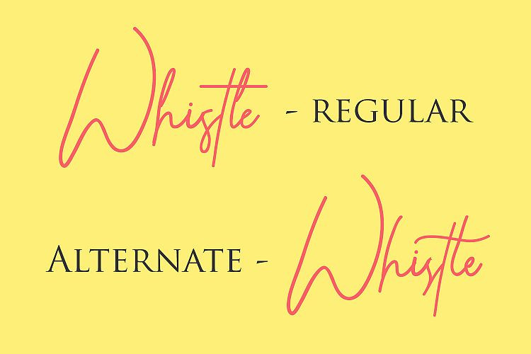 Whistle Font