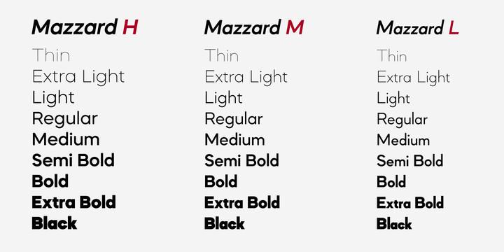 Mazzard Font Family - Befonts com