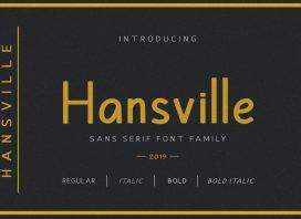 Hansville Sans Font Family