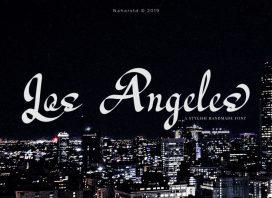 Los Angeles - Modern Script Font