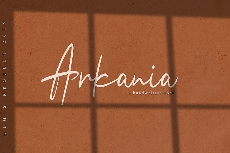 Arkania Handwritten Font