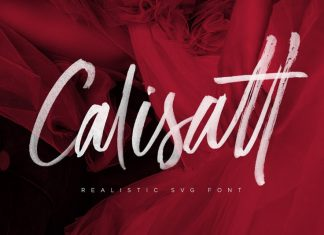 Calisatt Brush SVG Font