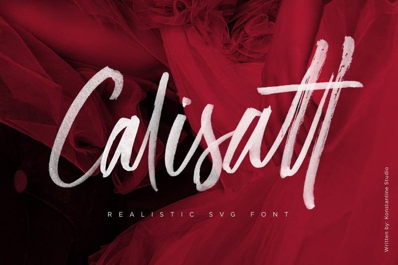 Calisatt Brush SVG Font